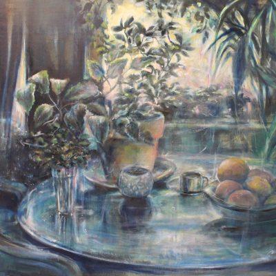 C.Bibo Aube 24 x 30 huile sur bois par