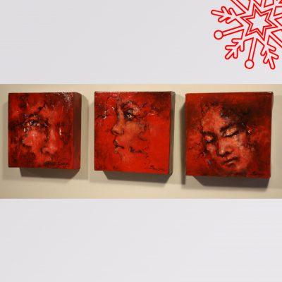 JS-Acrylique 6x6 sur toile 100 $