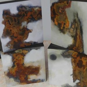 Johanne Senay_4 toiles mixte Oxyde