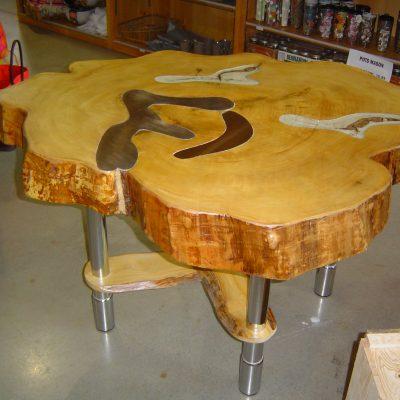 Table incrustée Sansatravers - Bruno Huissoud